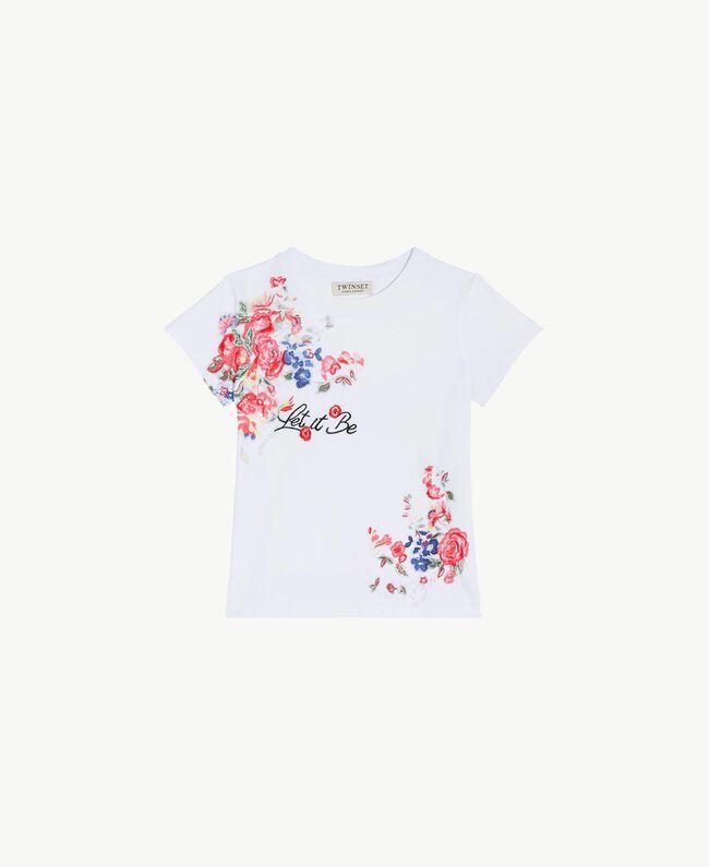 """T-shirt imprimé Blanc """"Papers"""" Enfant GS82SP-01"""