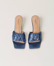 Satin sandals with knot Denim Woman 211TCT114-05