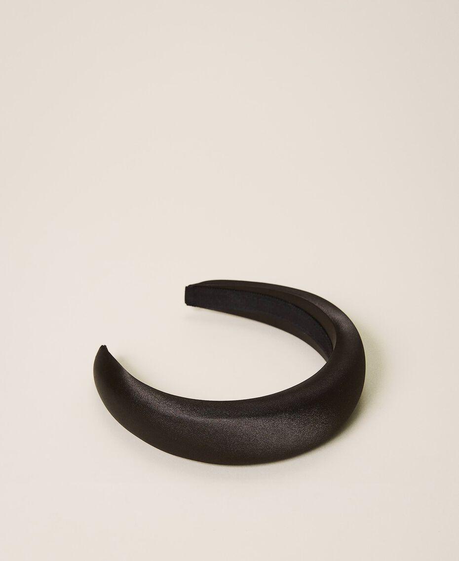 Satin headband with rhinestone charm Black Woman 202TA430F-01