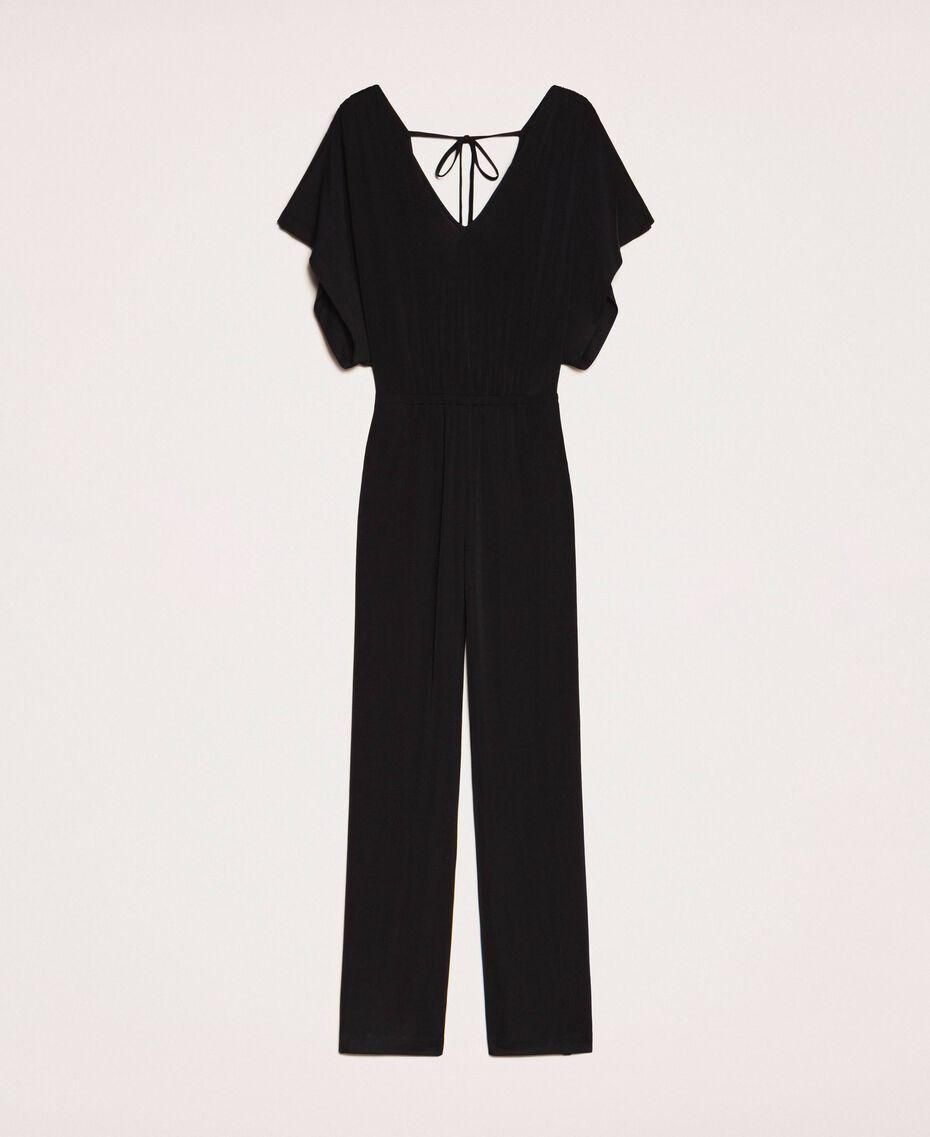 Jumpsuit with side slits Black Woman 201LM2EDD-0S