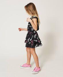 Kleid mit Allover-Logoprint Graffiti-Print Schwarz Kind 211GJ2127-03