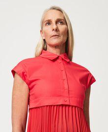 """Irena"" poplin long dress with pleats ""Coral Kiss"" Red Woman 211MT2092-05"