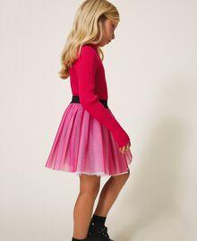 Gerippter Stehkragenpullover Pink Gloss Kind 202GJ3690-02