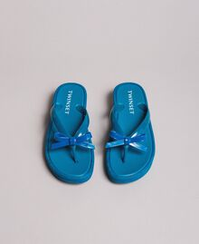 Wedge flip flops Antigua Blue Woman 191LM4ZLL-04