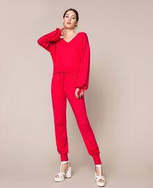 "Cashmere blend boxy jumper ""Ballerina"" Purple Woman 201TP3011-0T"