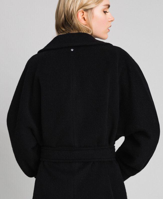 Long wool cloth coat Black Woman 192TT2600-04