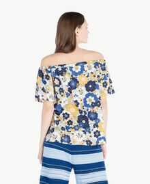 Bluse mit Print Flacher Blumenprint Placid Blue Frau SS82PB-03