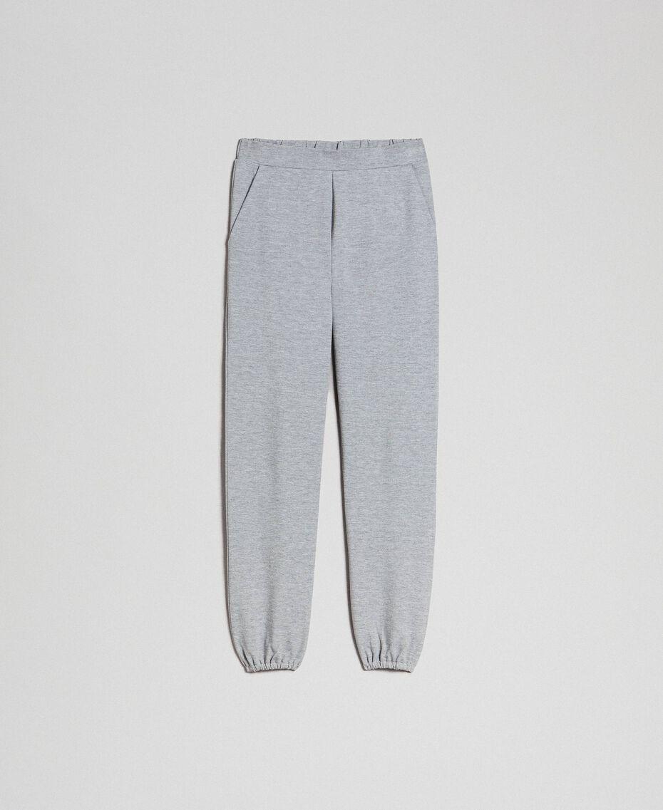 Pantalon de jogging Gris Mélangé Femme 192LI2UEE-0S