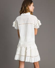 Broderie anglaise and ruffle blouse White Snow Woman 191TT2041-04