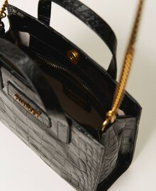 """Small leather Twinset Bag with crocodile print """"Cherry"""" Red Croc Print Woman 202TB7111-06"""