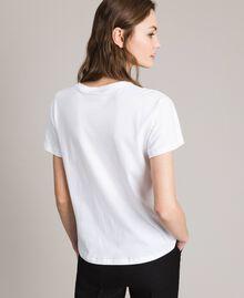 T-Shirt mit Logo Weiß Frau 191TP2606-04