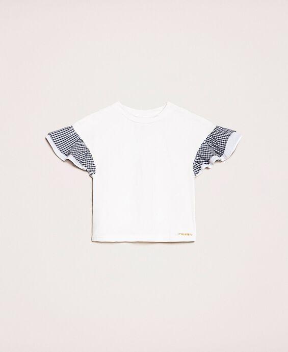 T-Shirt mit Ärmeln im Vichy-Muster