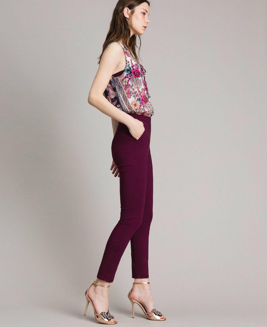 "Tuta in chiffon a stampa foulard Stampa Foulard Fucsia ""Psychedelic Pink"" Donna 191LB2HGG-01"