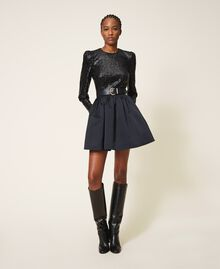Body avec sequins Noir Femme 202TT2262-0T