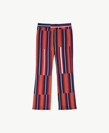 """Printed trousers Tobacco Stripe / """"Love Bites"""" Fuchsia IA7RCC-01"""