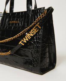 """Borsa Twinset Bag piccola in pelle a stampa cocco Stampa Cocco Rosso """"Ciliegia"""" Donna 202TB7111-01"""