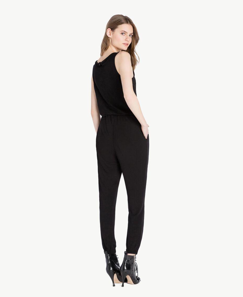 Jersey jumpsuit Black Woman PS82EN-03