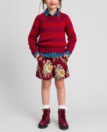 Shorts in broccato a fiori Jacquard Broccato Ruby Wine Bambina 192GJ2445-0T