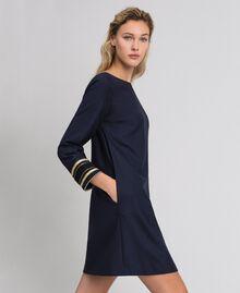Платье из технической шерсти Синий Midnight женщина 192TT2459-01