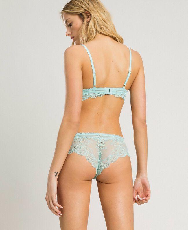 Padded lace triangle bra Light Mousse Blue Woman 191LL6B22-03