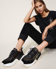 Chaussures de running avec logo Noir Femme 202TCP036-0S
