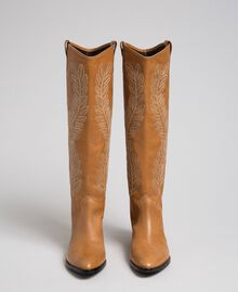 Texas boots with embroidery Tobacco Woman 192TCT06A-03