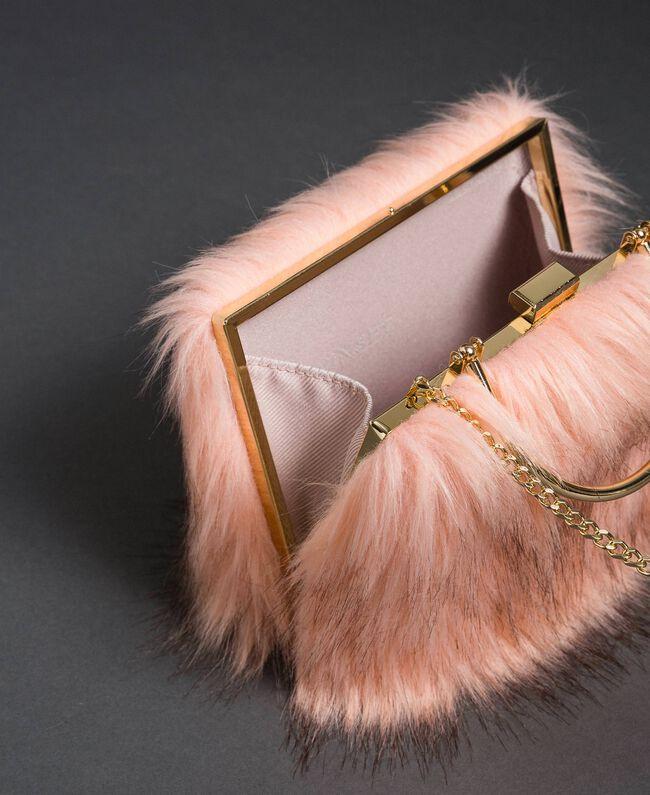 "Borsa tracolla in similpelliccia Rosa ""Peach"" Donna 192LL7ZNN-04"