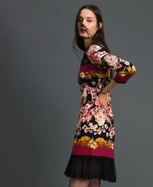 Abito con stampa foulard a fiori e pizzo Stampa Foulard Donna 192TP3361-02