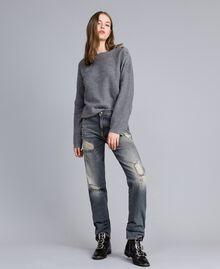 Jeans in Vintageoptik Denim-Grau Frau JA82YB-01