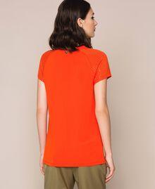 "T-shirt con borchie all over Arancio ""Ace"" Donna 201LL2DAA-03"