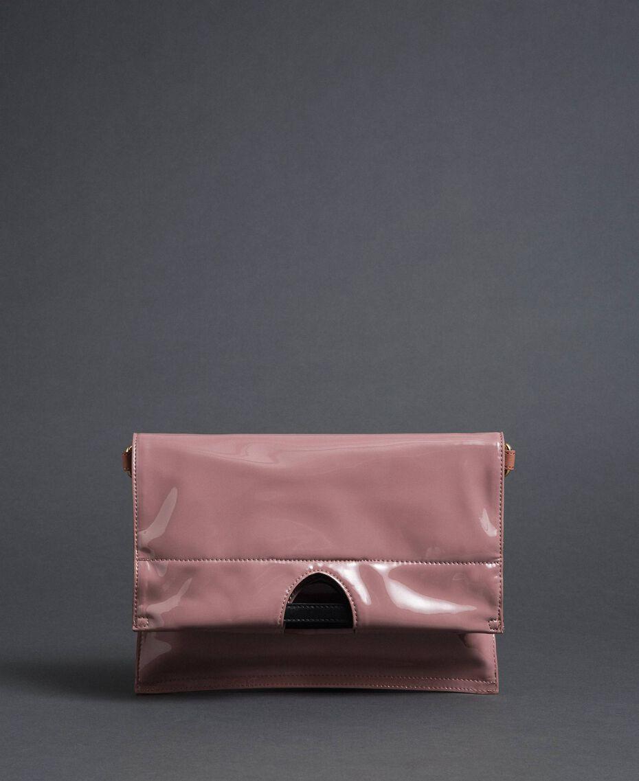 Petit sac cabas repliable en similicuir Rose Poudre Femme 192TA7174-03