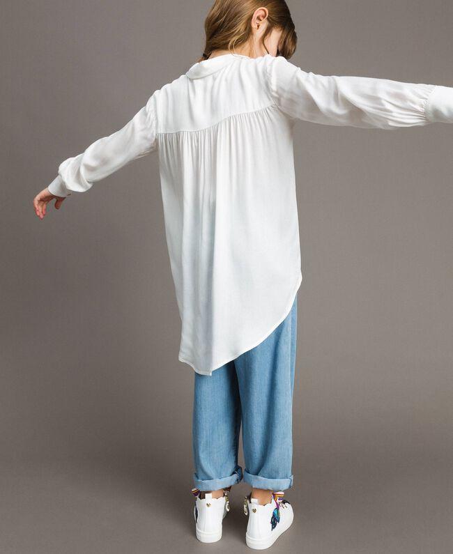 Satin asymmetric shirt Off White Child 191GJ2361-03