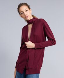 Silk and cashmere cardigan Bordeaux Woman PA83GG-01