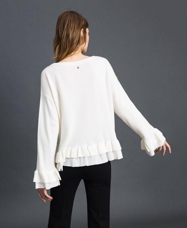 Pull en laine et cachemire Blanc Neige Femme 192TP3214-03