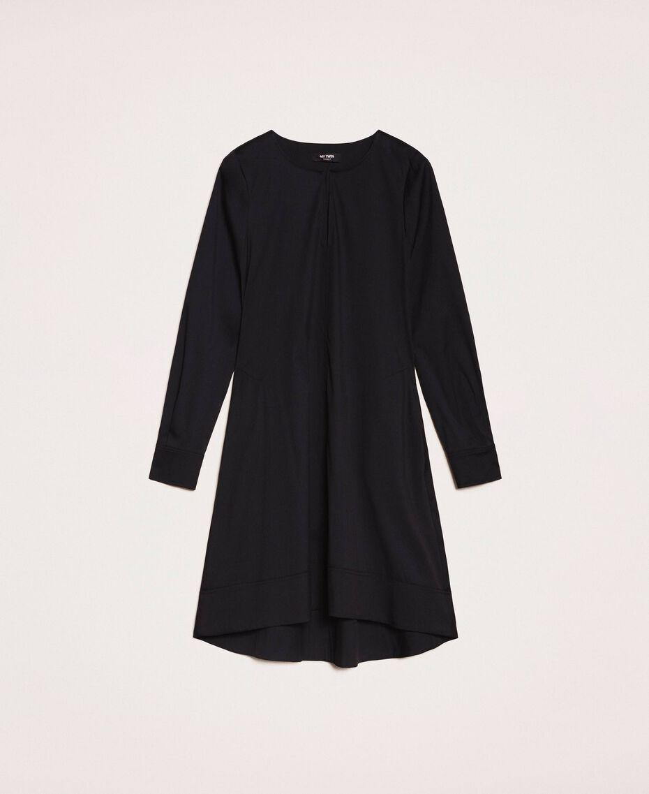 Поплиновое платье Черный женщина 201MP218G-0S