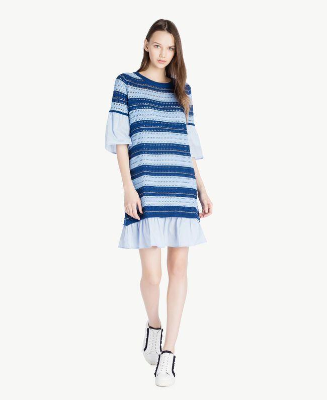 "Crochet dress Multicolour ""Navy Peony"" Blue / Placid Blue/ ""Rope"" Beige Woman SS83AB-01"