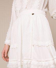 Broderie anglaise full skirt White Snow Woman 201TP2494-04