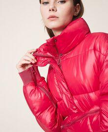 "Oversize puffer jacket with maxi pockets ""Cerise"" Fuchsia Woman 202MP2050-04"