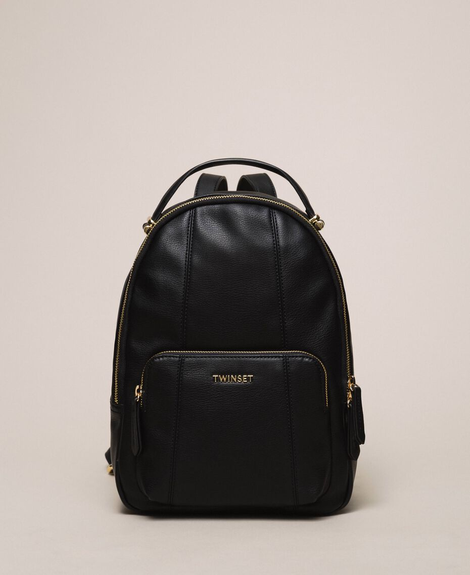 Рюкзак из искусственной кожи с карманом Черный женщина 201TA7163-02