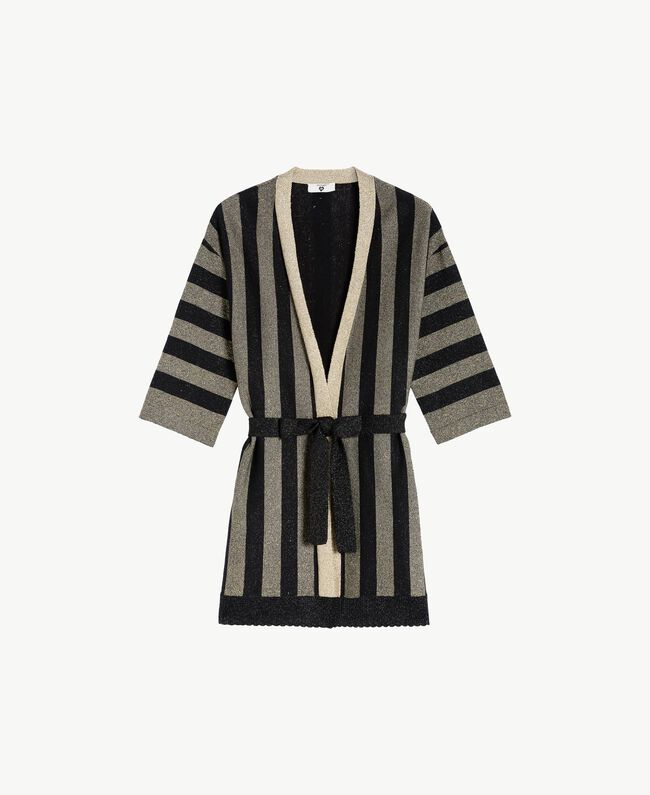 Cardigan lurex Bicolore Noir / Or Femme BS84BB-01