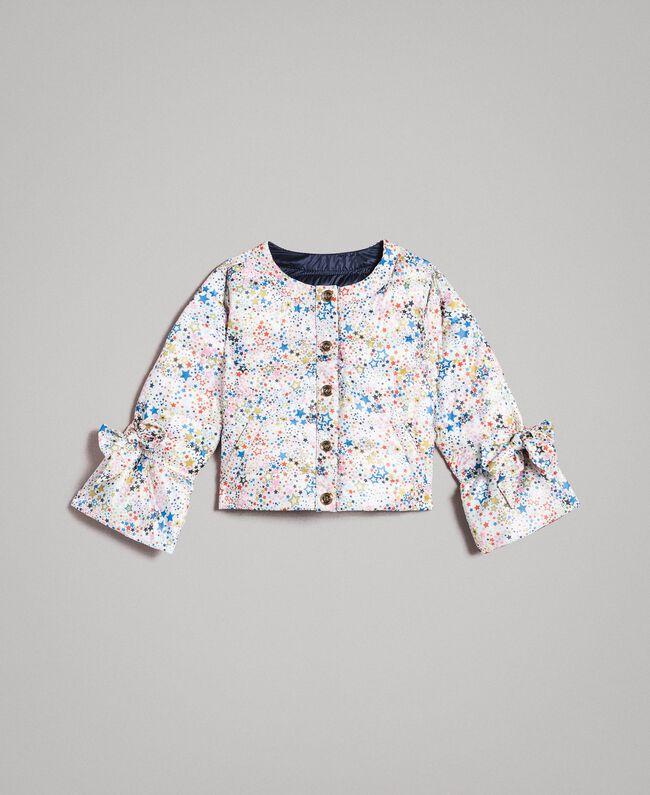 Ultra lightweight reversible puffer jacket Two-tone Indigo / Star Print Child 191GB2170-01