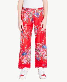 Pantalon imprimé fleurs Imprimé Fleurs / Rouge Grenadier Enfant GS82E2-04
