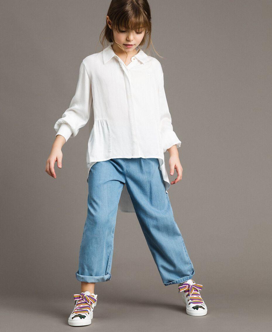 Satin asymmetric shirt Off White Child 191GJ2361-0S