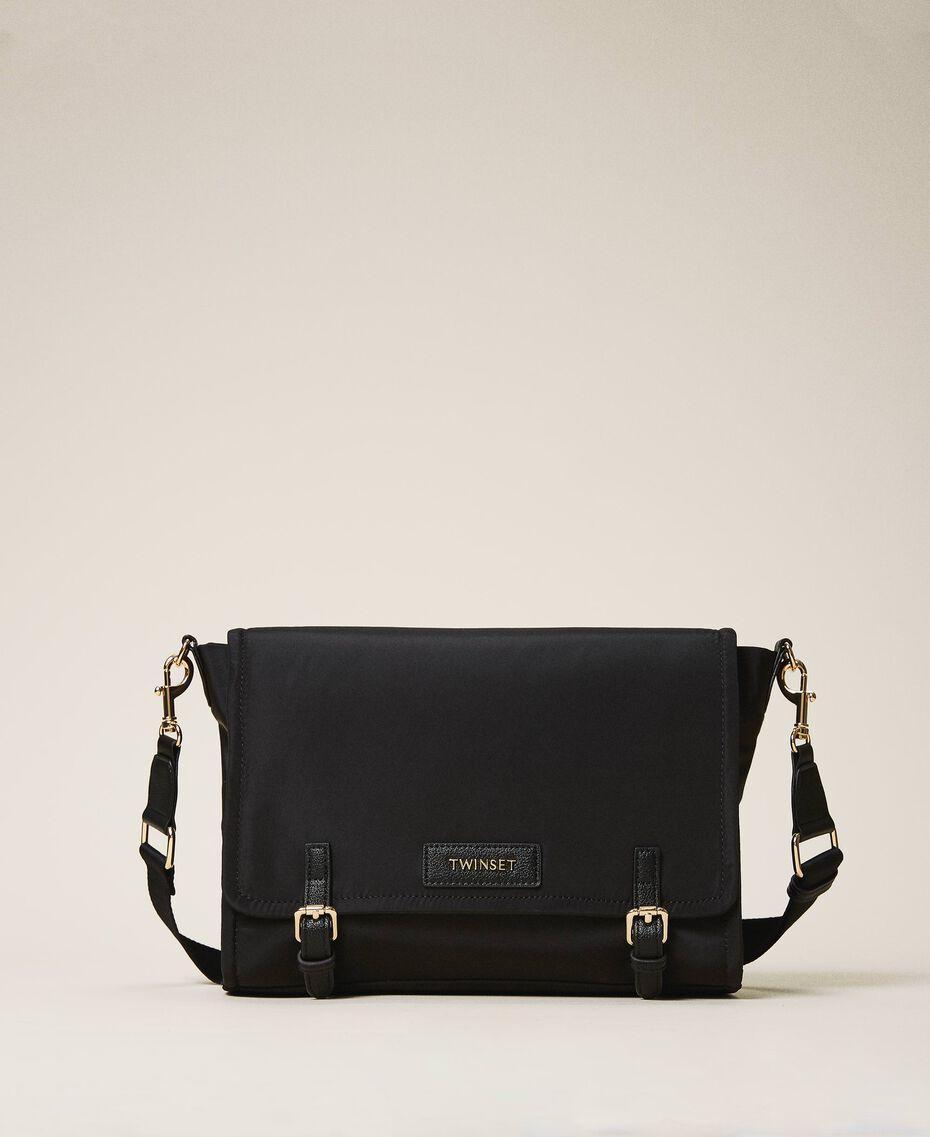 Satin Twinset Bag shoulder bag Black Woman 202TB7203-02