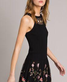 Top avec détail en crochet et anneaux Noir Femme 191MT3030-03