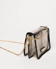 PVC Bea Bag with chain strap Grey Woman 201TO8200-02
