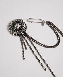 Broche avec bouton et franges de strass Argent Nickel Free Femme 192TA437C-01