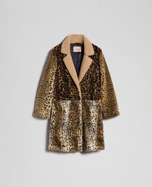 Cappotto in similpelliccia animalier Patch Animallier Donna 192TT2250-0S