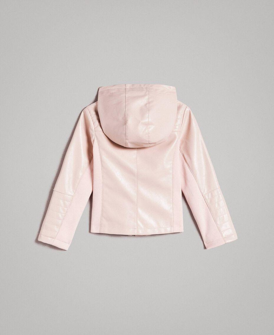 Kunstleder-Jacke Blütenrosa Kind 191GB2100-0S