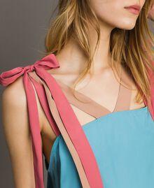 """Colour block mini dress Multicolour """"Tender Rose"""" Pink / Daylight Blue / Porcelain Beige Woman 191LM2HMM-04"""